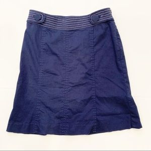 Lilly Pulitzer Solid Blue Skirt Nautical Buttons